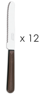 Juego cuchillos mesa marrón 12 unidades