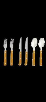 Yellow cutlery set